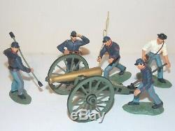 Britains American Civil War. Union Artillery Set. 5 Figures & Cannon #17240