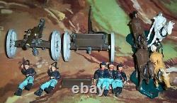 Britains American Civil War Union Gun Team & Limber 7464 with Horses, Men, Gun