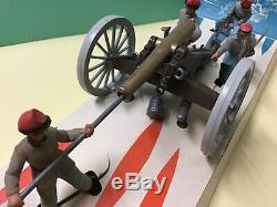 Britains American civil war confederate 12 pounder and crew cat. 4435