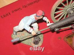 Britains CIVIL War 17669 Confederate Artillery Set #1 10lb Parrot Gun /4 An Crew