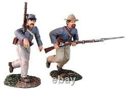 Britains CIVIL War Confederate 31149 At The Double Quick Charging Set Mib