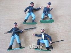 Britains Herald 4pce Swoppets Gun Crew Set #4465 ACW American Civil War Figures
