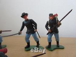 Britains Herald 5pce Swoppets Union Part Set #7452 ACW Civil War Figures