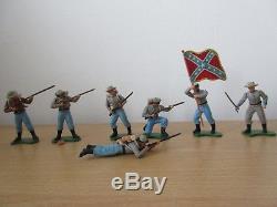 Britains Herald 7pce Swoppets Confederates Set #7422 ACW Civil War Figures
