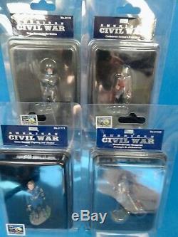 Britains Ltd/First gear 54mm Civil war generals 4 31171/73/82/83 2013 MIB oop