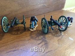 Britains Metal Civil War Soldiers 2 soldiers 2 cannons Union Firing