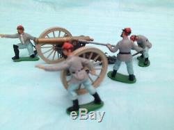 Britains U. S. Civil War Confederate Cannon Gun Team
