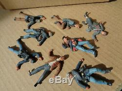 Bussler, Civil War Union & Confederate dead well painted lead 54mm soldiers, wa