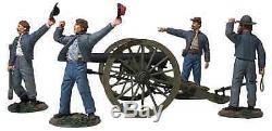 CIVIL WAR Britains CONFEDERATE 10 Pound PARROTT ARTILLERY Cannon & Crew #31264