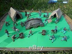 CIVIL WAR SET soldiers/tent/bridge/diorama/toy/soldier/FREE SHIPPING