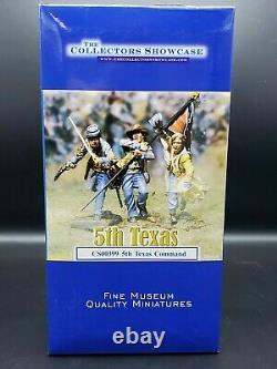COLLECTORS SHOWCASE CIVIL WAR CS00399 5th TEXAS COMMAND NIB