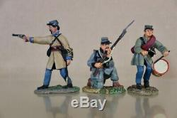 CONTE AMERICAN CIVIL WAR 5 CONFEDERATE OFFICER DRUMMER SOLDIERS DEFENDING nu