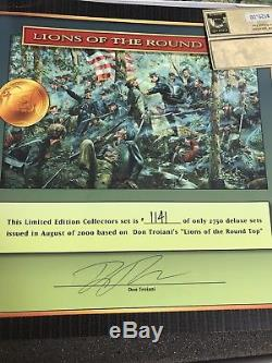CONTE DON TROIANI'S CIVIL WAR #59001 Limited Edition LIONS OF THE ROUND TOP- MIB