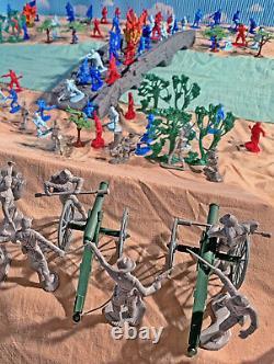 Civil War Playset #1 Burnside's Bridge Antietam 54mm Plastic Toy Soldiers
