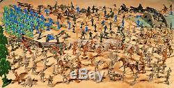 Civil War Playset #1 Marx Recast Antietam 54mm Plastic Toy Soldiers