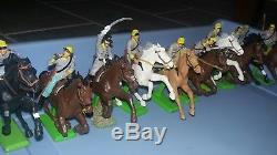 Civil War Union & Confederate Horse Soldiers Cavalry Giant Lot 1971 Britains