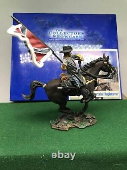 Collectors Showcase American CIVIL War Soldier Flag Bearer Mounted Boxed Cs00244