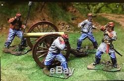 Collectors Showcase CS00247 Civil War Confederate Artillery Gun Cannon & 4 Crew