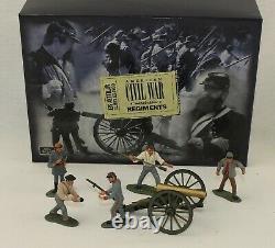 Confederate Artillery 6 Pc Set Britains #17239 Civil War Regiments