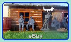 Confederate Civil War Camp Diorama/12 Soldiers/54mmACWTSSD Conte Barzso &Marx