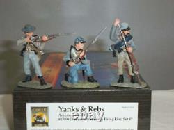 Confederate Firing Set #2 (3 Figures) 57099 civil war Conte