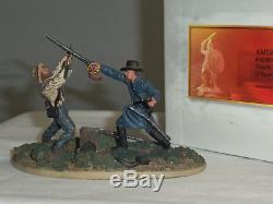 Conte Acw57174 American CIVIL War Hand To Hand Vignette On Base Toy Soldier Set