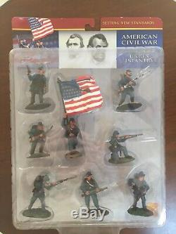 Conte American Civil War Painted Plastic 54mm Union Infantry New Set 1