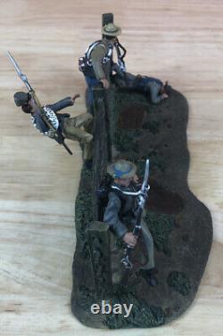 Conté Collectors Civil War Confederate Toy Soldiers (4 figures and Terrain Base)