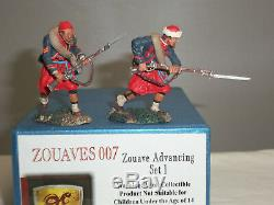 Conte Zouaves007 Zouave Advancing American CIVIL War Toy Soldier Figure Set 1