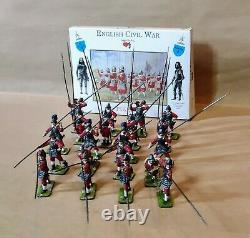 English CIVIL War 1/32 Professionally Painted Acta Pikemen Complete Boxed