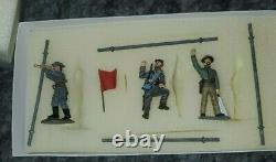 FRONTLINE FIGURES CIVIL WAR A. C. A. 2 Confederate Signalling Tower With 3 soldiers