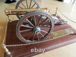 Franklin Mint, U. S Civil war cannon. Model 1857 Field gun