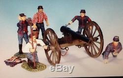 Frontline A. U. A. 7 American Civil War Union Artillery Firing Cannon With Crew