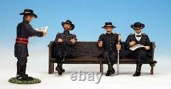Frontline Civil War Union General with 3 ADCs AUP6 Massaponax Church