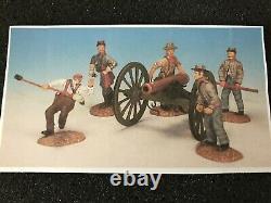 Frontline Figures American Civil War, Conferdrtate Artillery, Firing Cannon