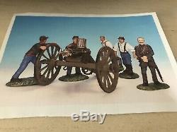 Frontline Figures American Civil War Union Artillery, firing Gatling