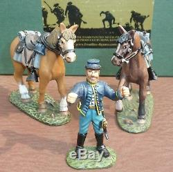 Frontline Figures (dc6) American CIVIL War Dismounted Union Cavalry 3 Piece Set