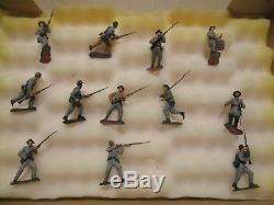 Gettysburg Toy Soldier 54mm matte finish Civil War Confederate Infantry set