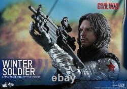HOT TOYS MMS351 1/6 Captain America 3 Civil War Winter Soldier Bucky New