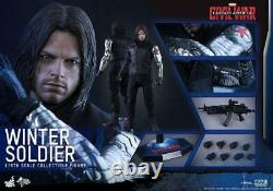 HOT TOYS MMS351 1/6 Captain America 3 Civil War Winter Soldier Bucky USED