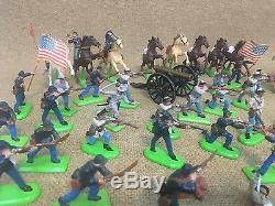 Huge Lot Britains Deetail 1971 CIVIL War Soldiers 22 Horses Cannon