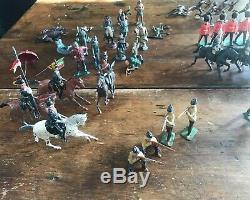 HUGE Lot of Mixed Britains LTD Civil War Zulu Soldiers/Guns/Horses Etc