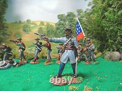 Hand Painted Conte And Cts CIVIL War Soldiers