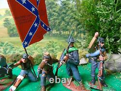 Hand Painted Conte-cts-andy Guard CIVIL War Soldiers
