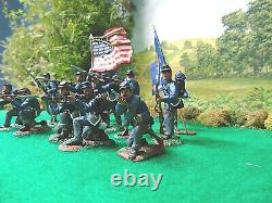 Hand painted union civil war soldiers