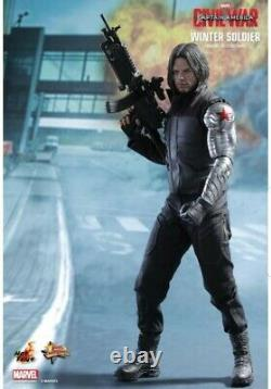 Hot Toys 1/6 Scale Captain AmericaCivil War Winter Soldier MMS351 MIB SEALED
