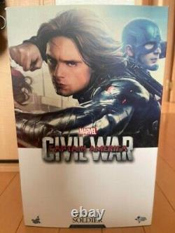 Hot Toys MMS241 Captain America Winter Soldier Civil War Bucky Head Figure 1/6