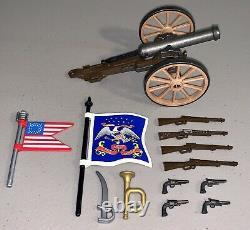 Huge Lot 50 Vintage Playmobil Civil War Union Soldiers Horses Guns Canon Flags