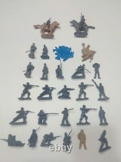 Huge Lot of 29 Handmade Civil War Army Men & (2) Horses Made By Pope 54mm New