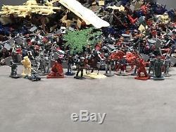 Huge Miniature Plastic Figure Lot 1/72 Scale Diorama Civil War WWII Medieval